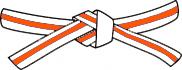 White belt - Orange stripe